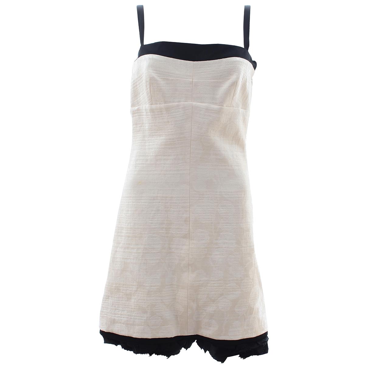 Balenciaga \N Kleid in  Weiss Leinen