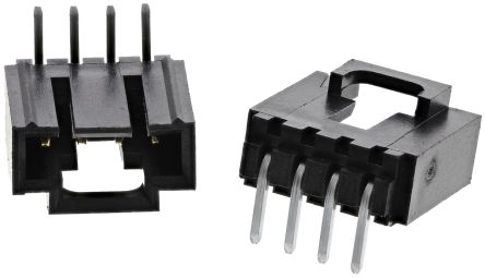 Molex , SL, 70553, 4 Way, 1 Row, Right Angle PCB Header (10)