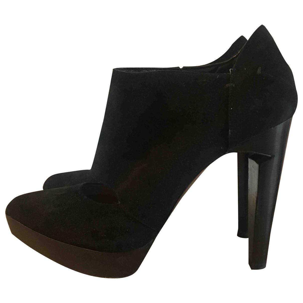 Costume National \N Black Suede Heels for Women 40 EU