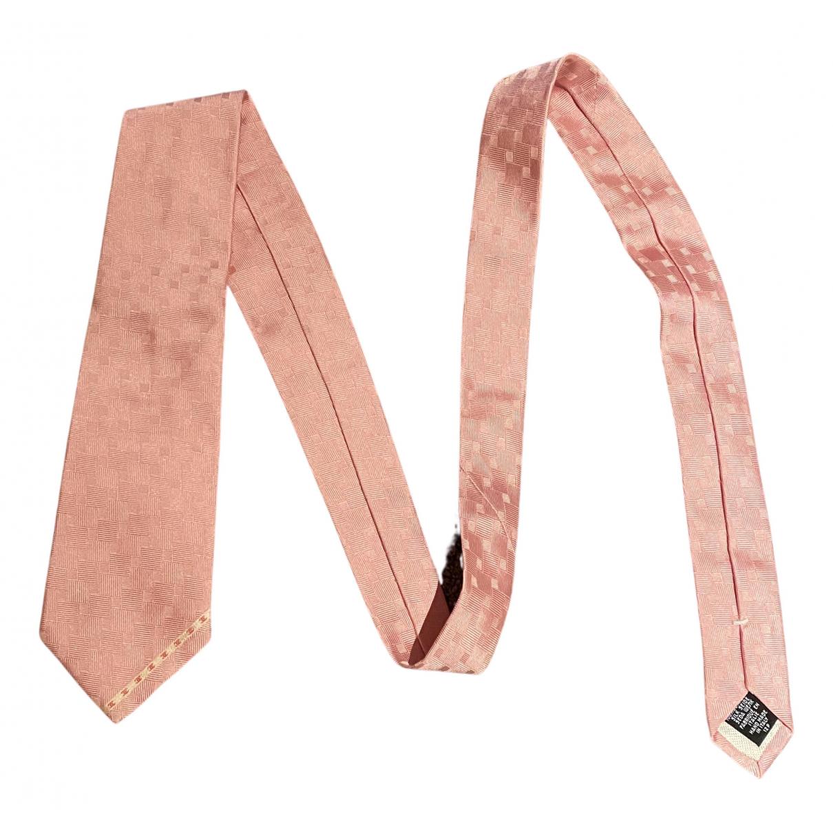 Chanel \N Krawatten in  Rosa Seide