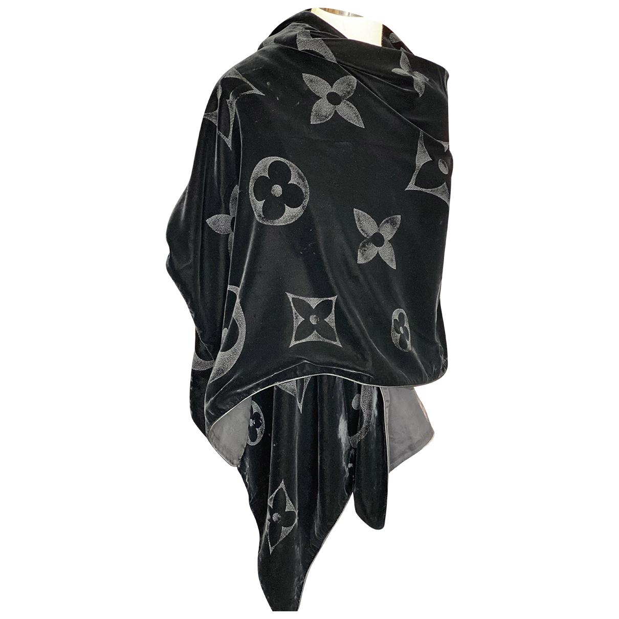 Louis Vuitton - Foulard   pour femme en velours - noir
