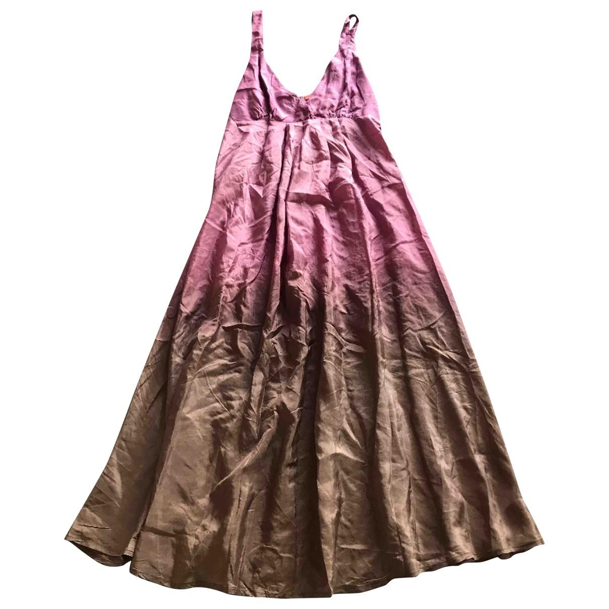 Chan Luu \N Kleid in  Rosa Seide