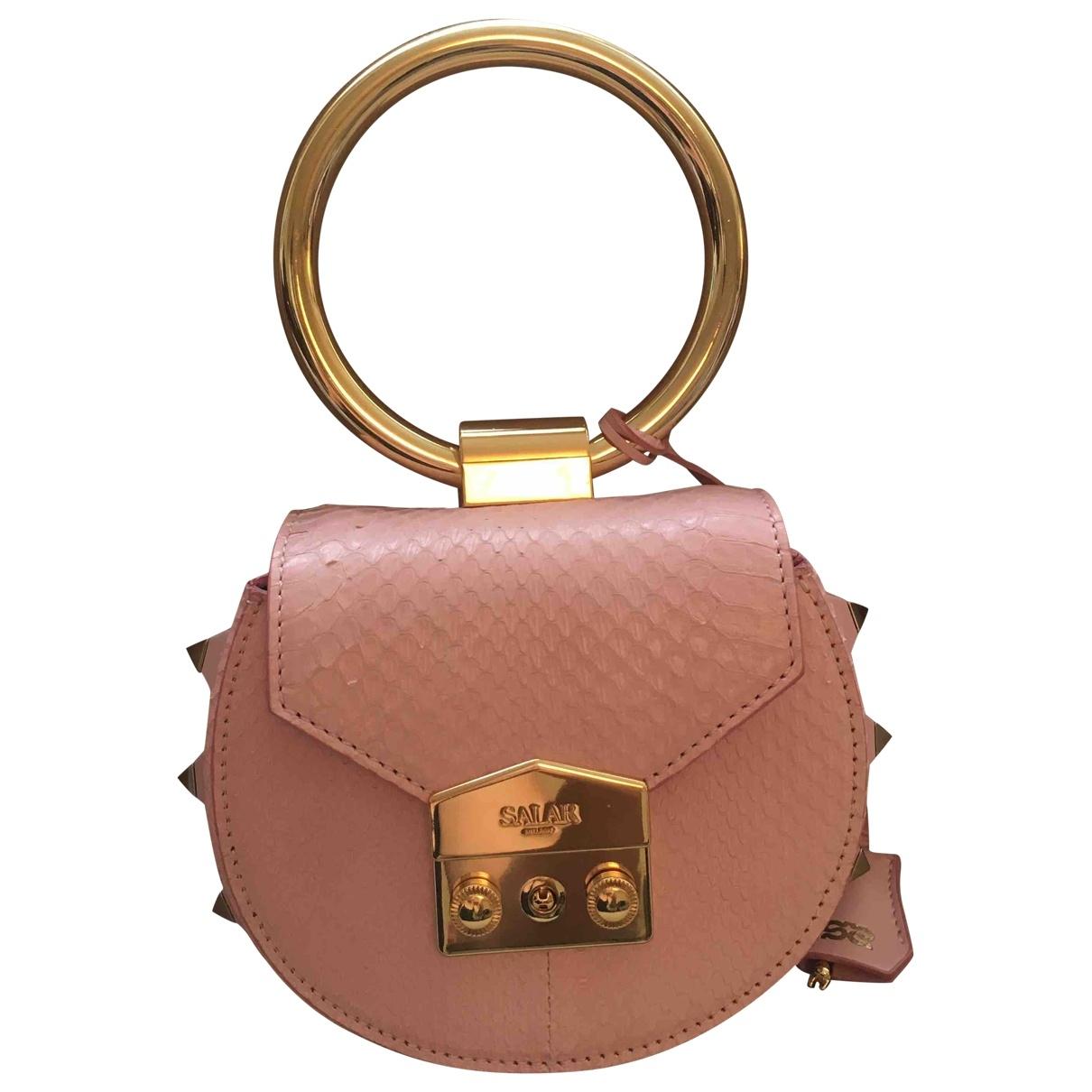 Salar \N Handtasche in  Rosa Leder