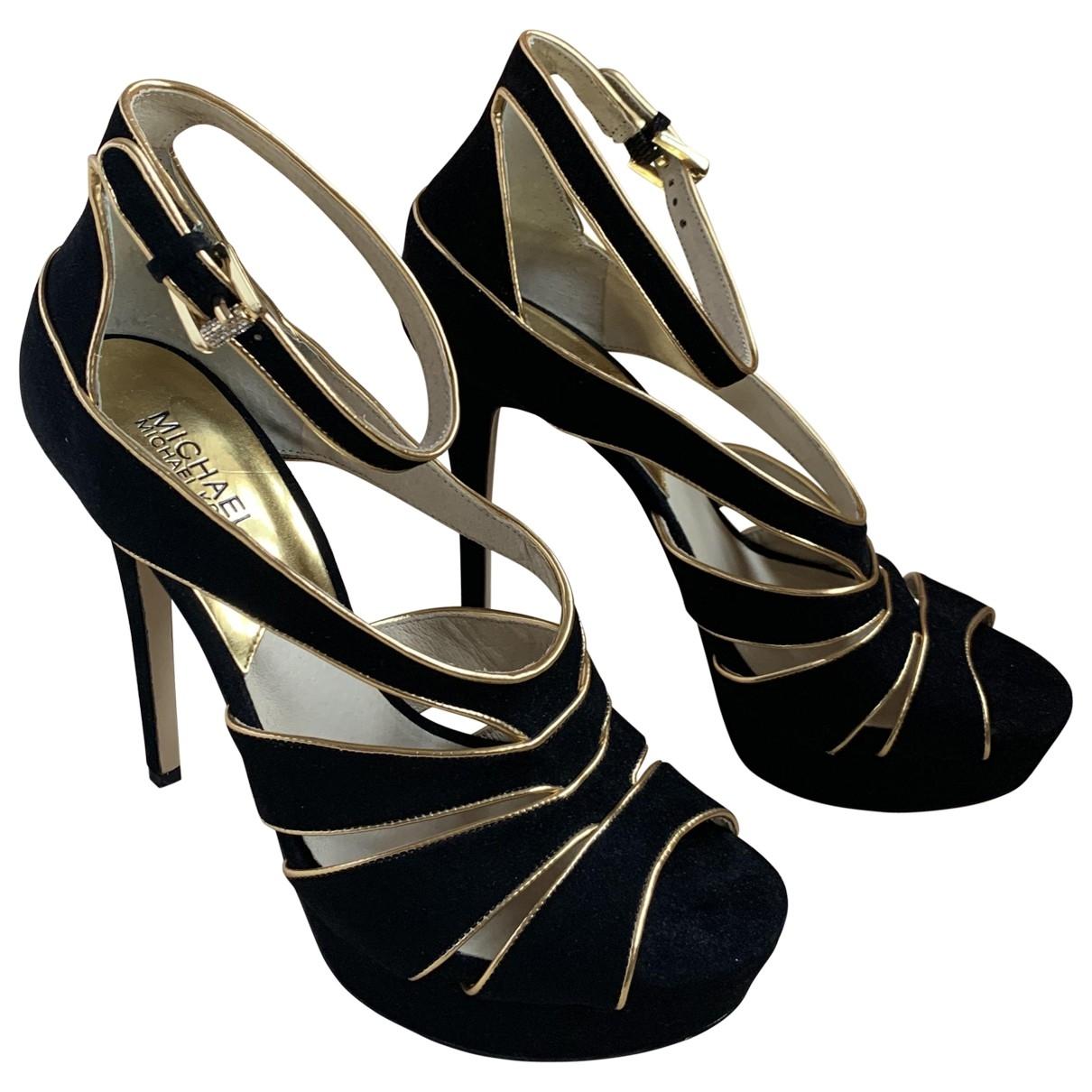 Michael Kors - Sandales   pour femme en cuir - noir