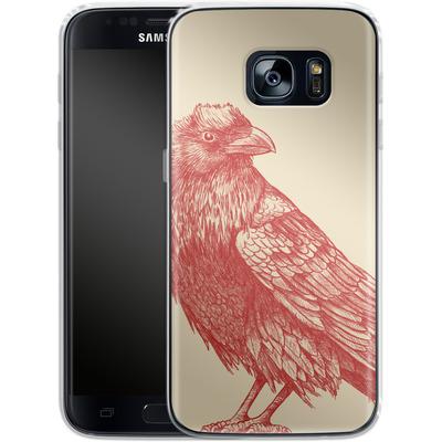 Samsung Galaxy S7 Silikon Handyhuelle - Red Raven von Terry Fan