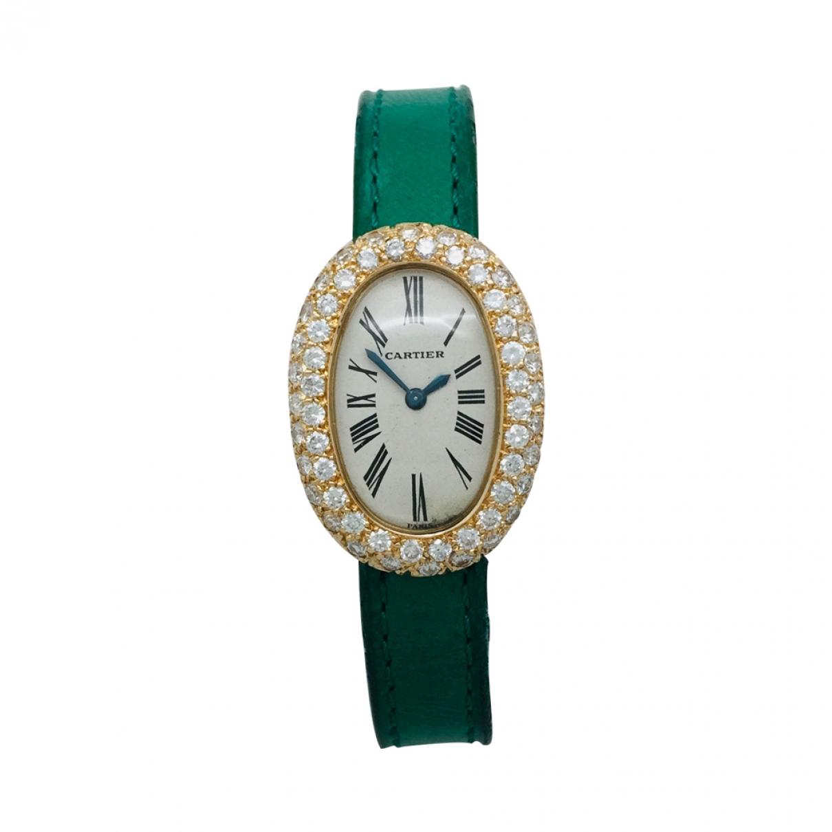 Cartier Baignoire Uhr in Gelbgold