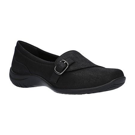 Easy Street Womens Cinnamon Slip-On Shoe, 7 Medium, Black