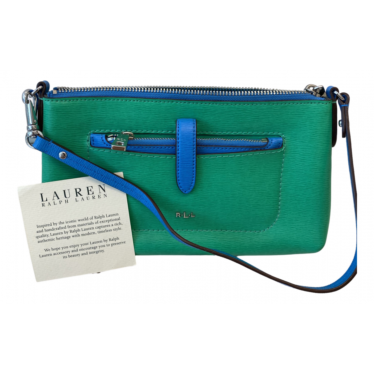 Lauren Ralph Lauren \N Green Leather handbag for Women \N
