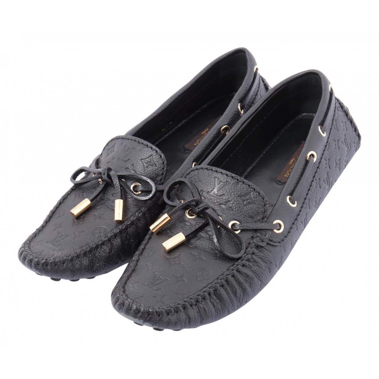 Louis Vuitton - Mocassins   pour femme en cuir - noir
