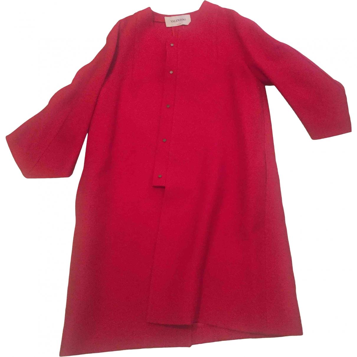 Valentino Garavani - Manteau   pour femme en laine - rouge