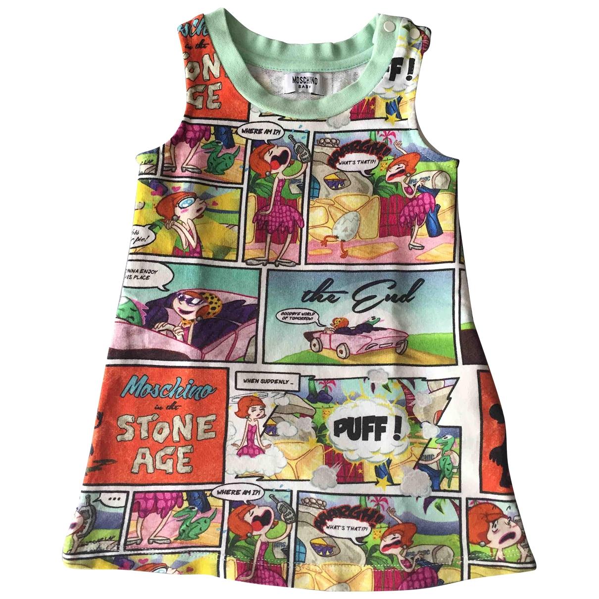 Moschino \N Kleid in  Gruen Baumwolle - Elasthan