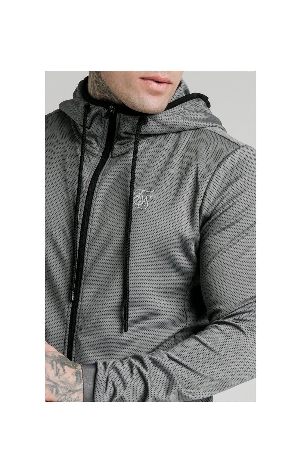 SikSilk Agility Active Zip Through Hoodie - Grey MEN SIZES TOP: Small