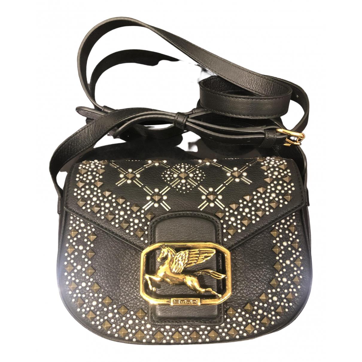Etro \N Black Leather handbag for Women \N