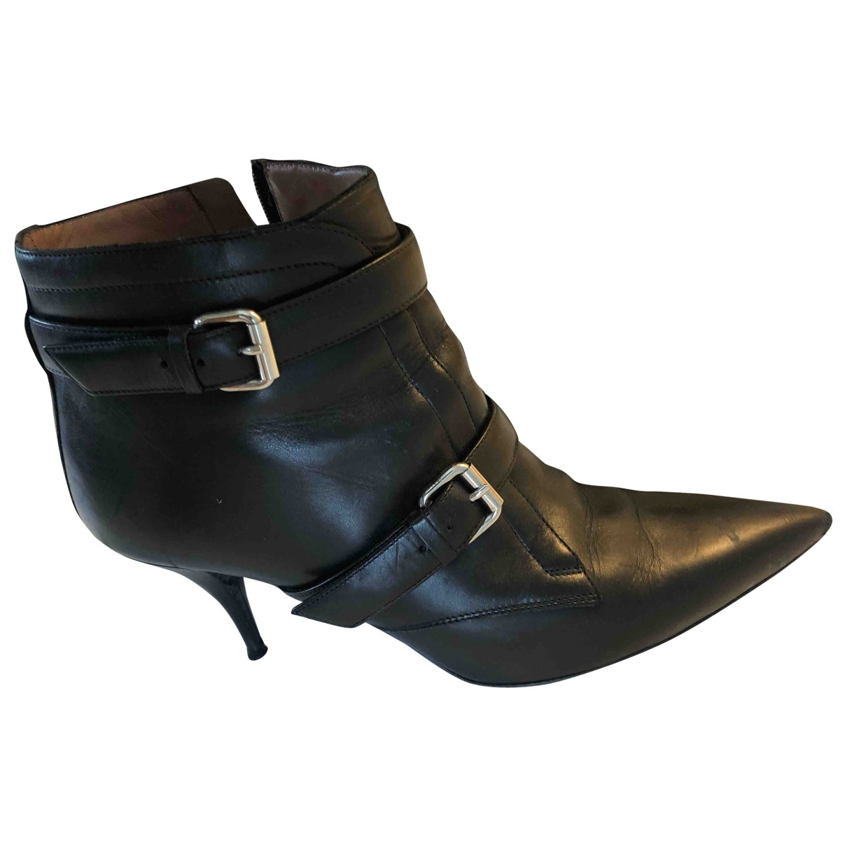 Tabitha Simmons \N Black Leather Ankle boots for Women 40.5 EU