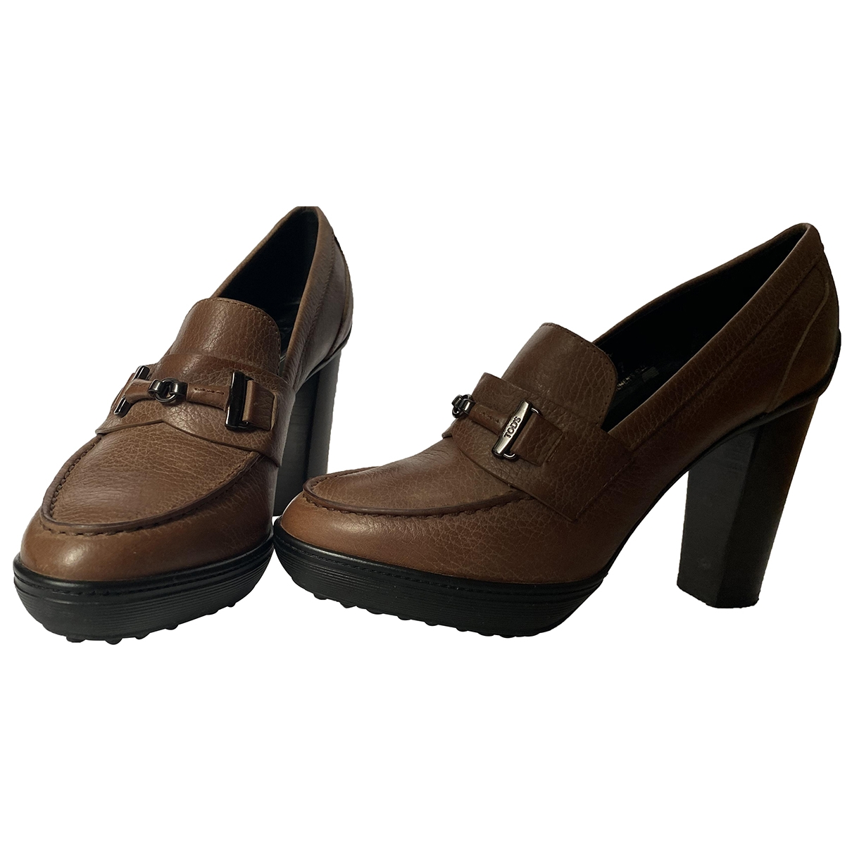 Tod's \N Brown Leather Heels for Women 37 EU