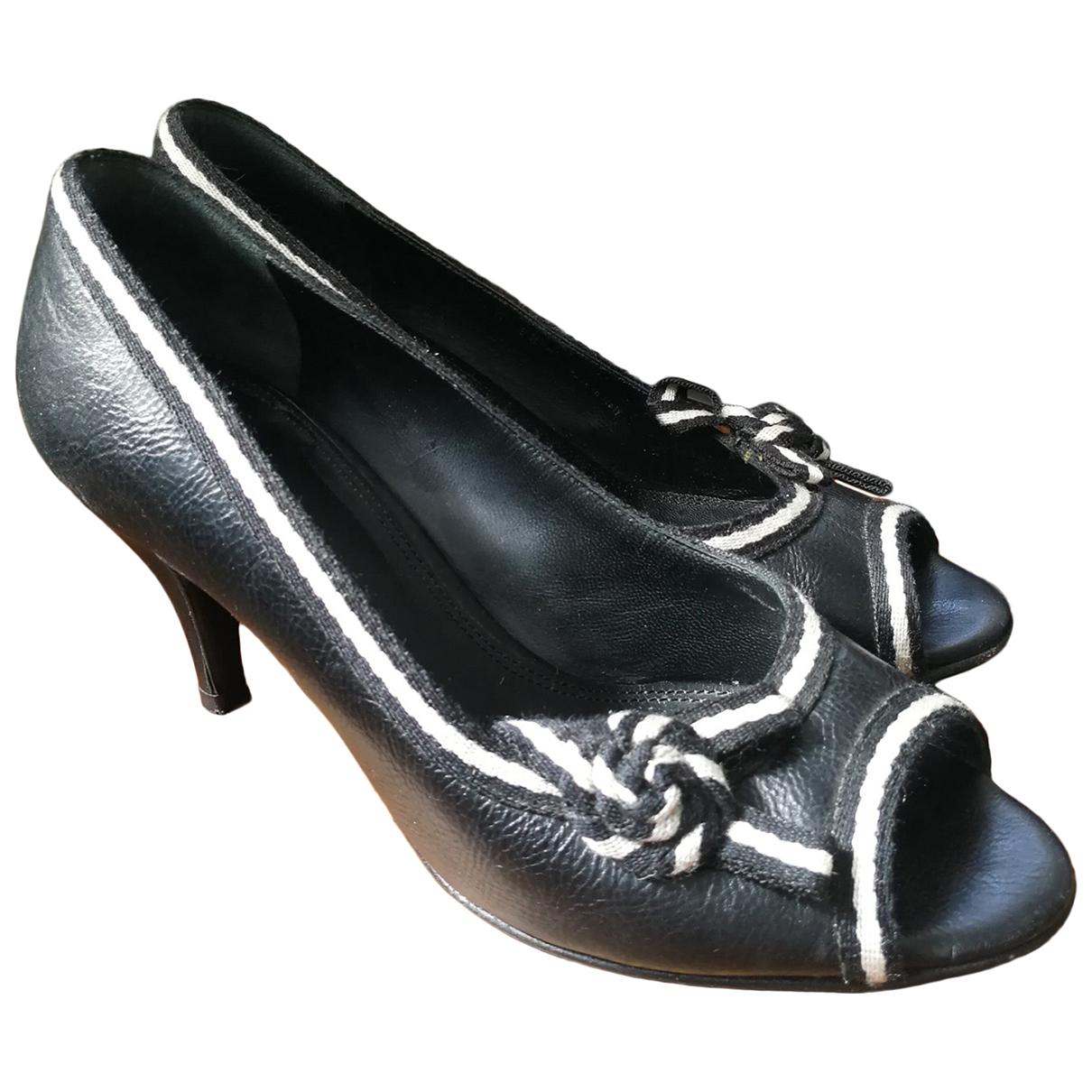 Bally \N Black Leather Heels for Women 36 EU