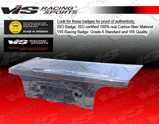 VIS Racing 05FDMUS2DOE-020C Carbon Fiber OEM Trunk Lid Ford Mustang 05-08