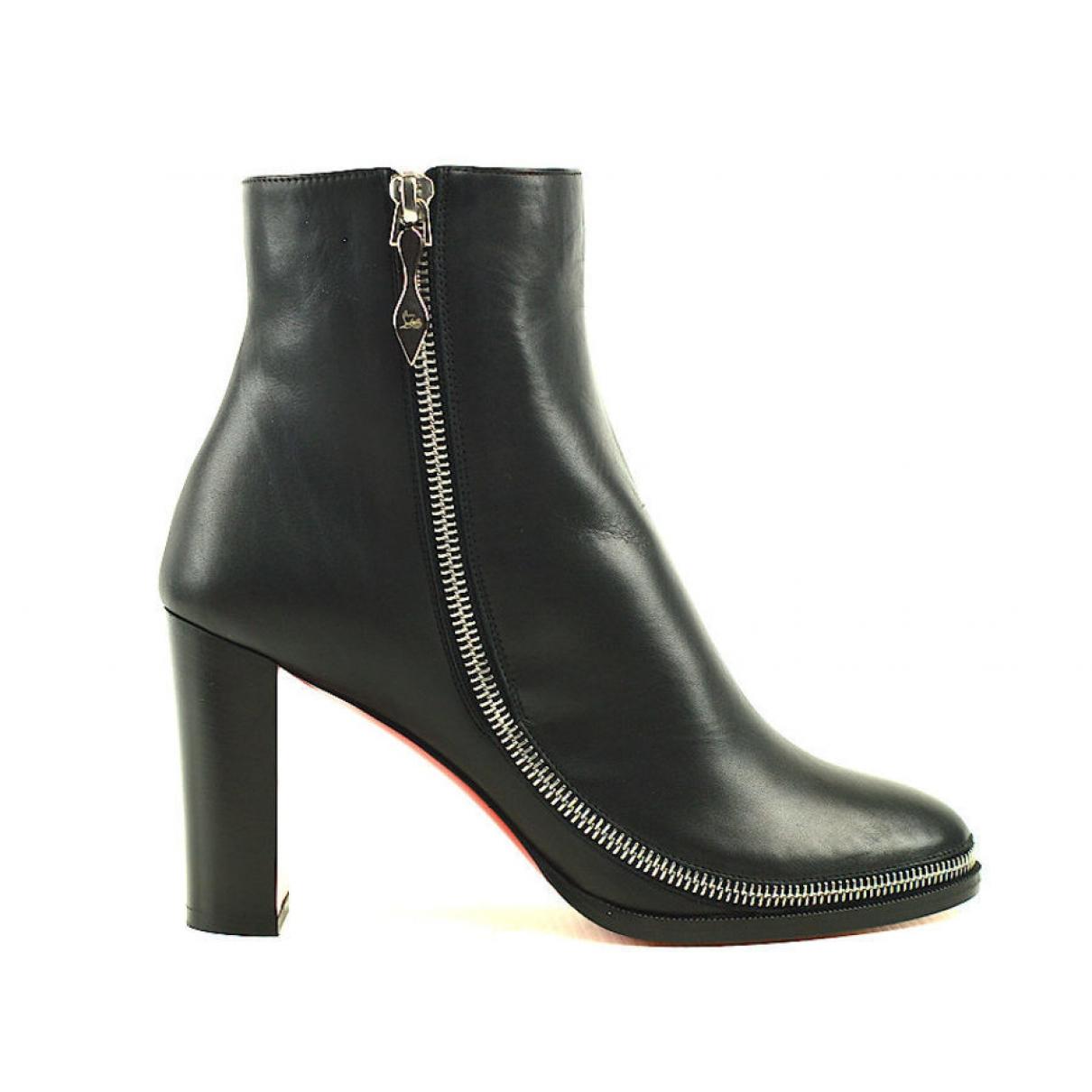 Christian Louboutin - Boots   pour femme en cuir - noir