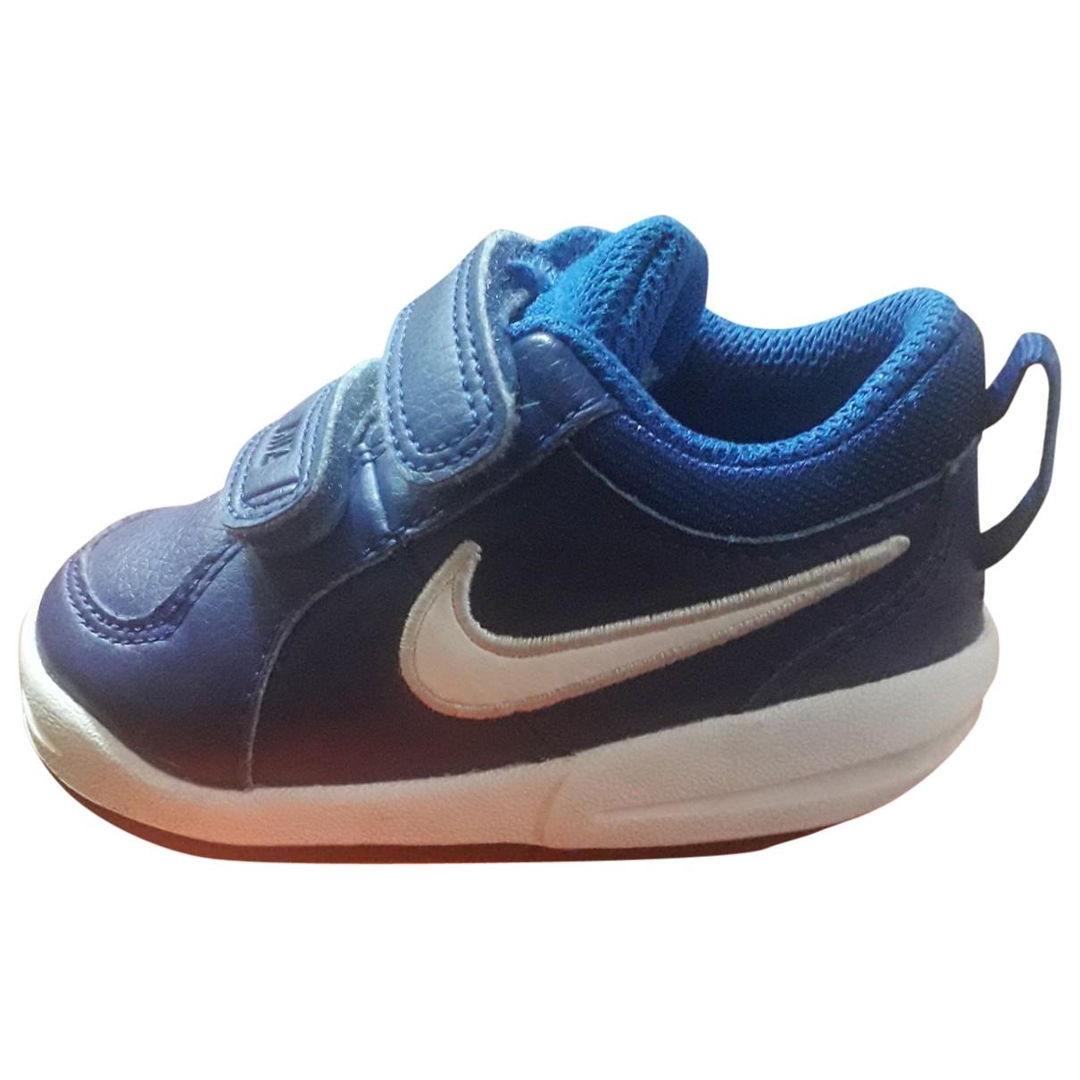 Nike \N Blue Leather Trainers for Kids 21 EU