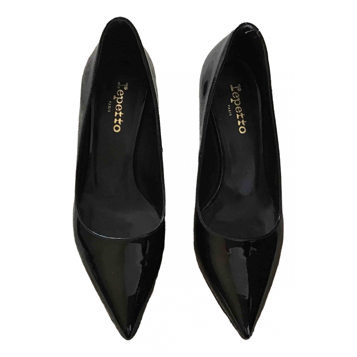 Repetto \N Black Patent leather Heels for Women 37 EU