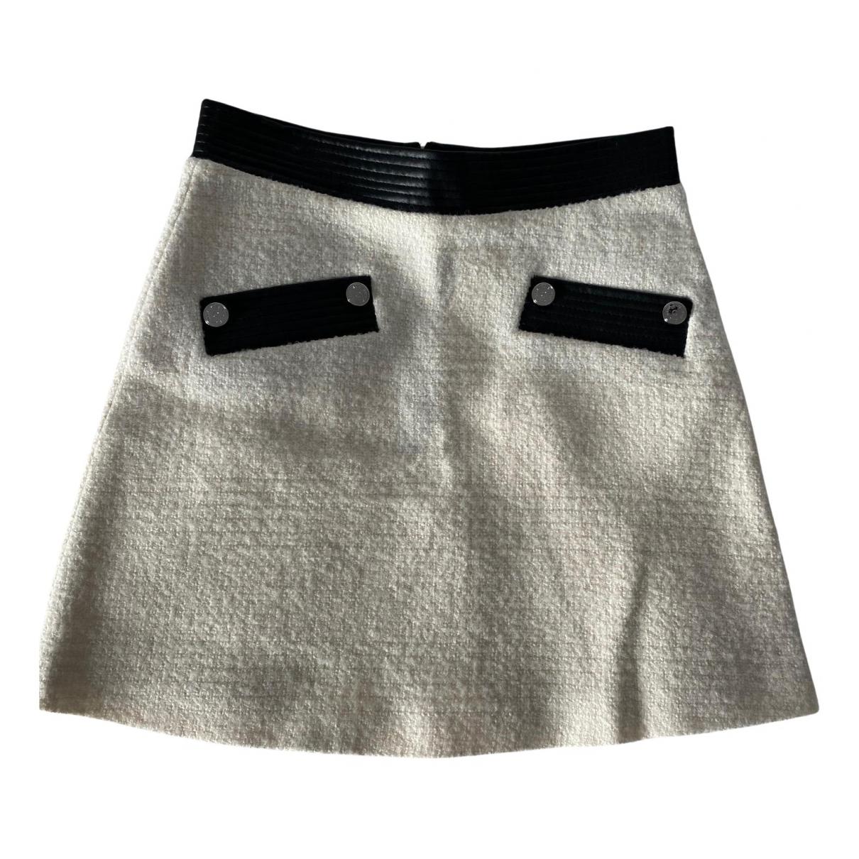 Maje Fall Winter 2019 Ecru Wool skirt for Women 38 FR
