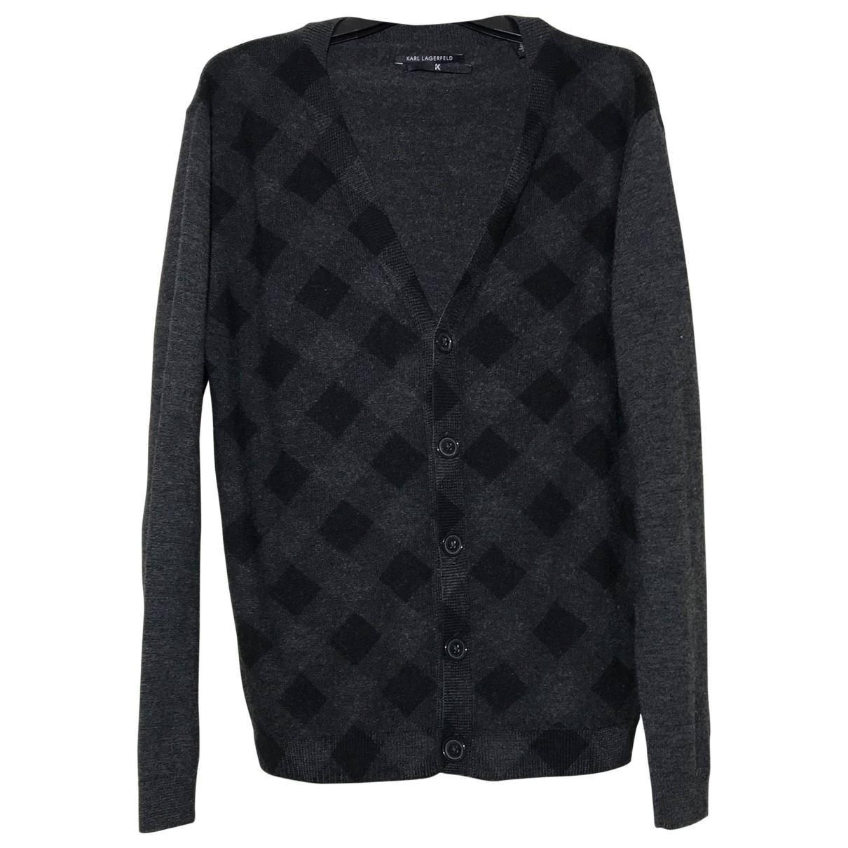 Karl Lagerfeld \N Pullover.Westen.Sweatshirts  in  Anthrazit Wolle