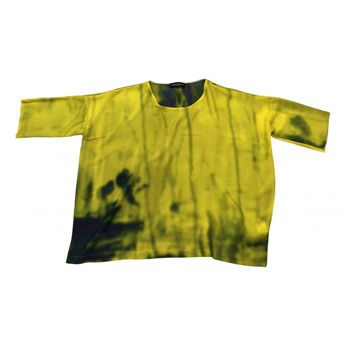 - Top Oversize pour femme en soie - jaune