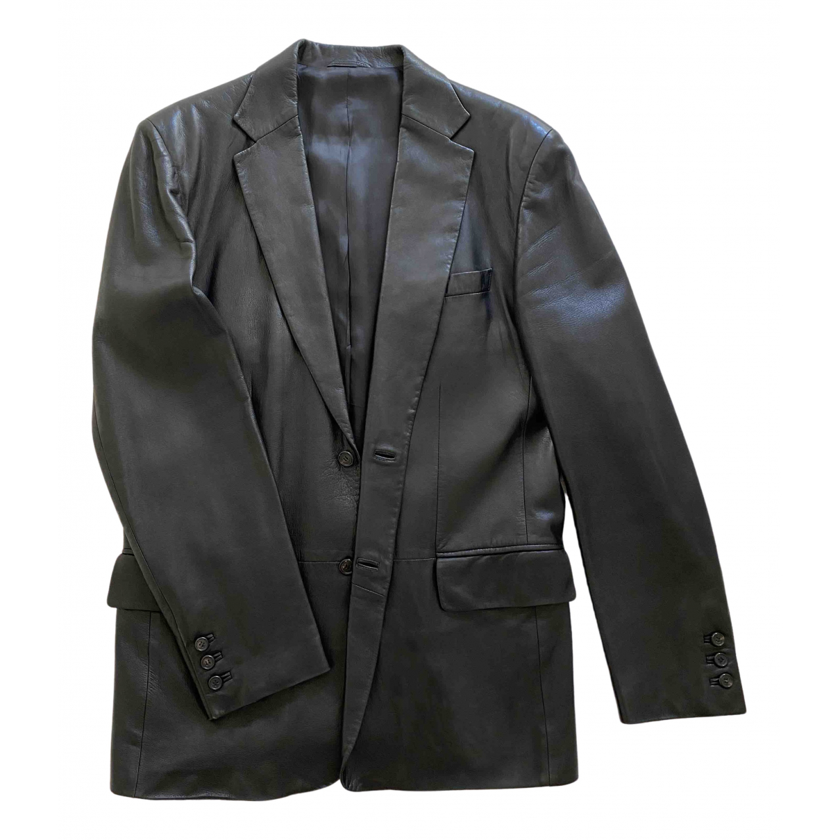Gucci - Vestes.Blousons   pour homme en cuir - noir