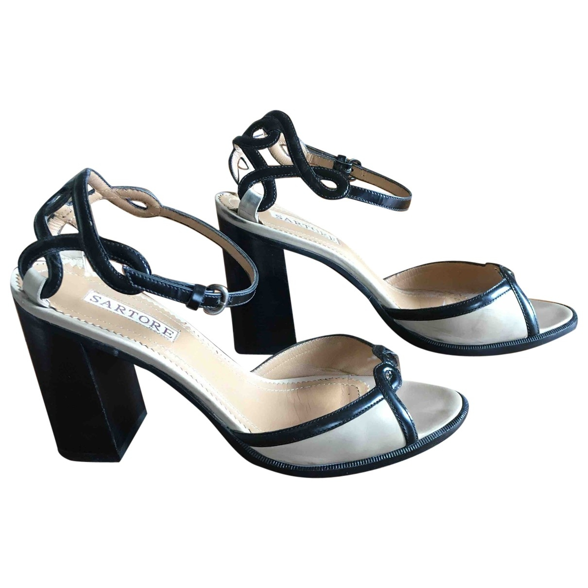 Sartore \N Beige Leather Sandals for Women 38 EU