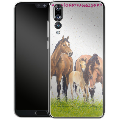 Huawei P20 Pro Silikon Handyhuelle - Pferdefreunde Familie von Pferdefreunde
