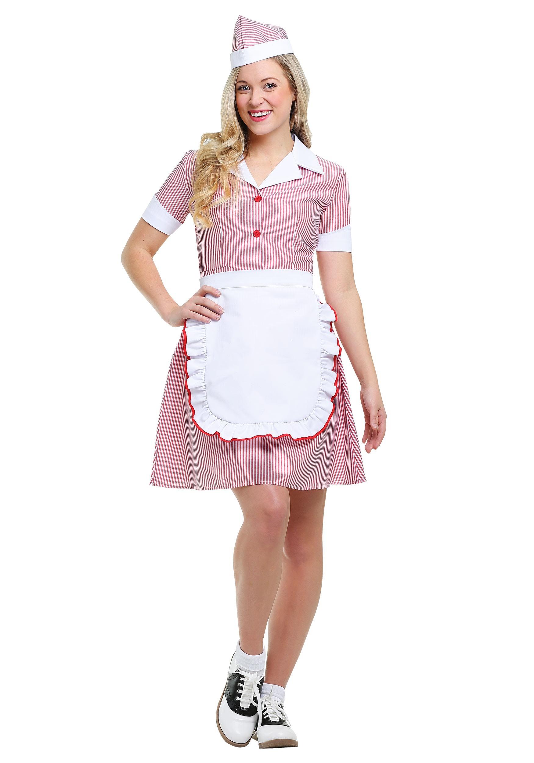 Plus Size Car Hop Costume for Women 1X 2X | 50s Costume