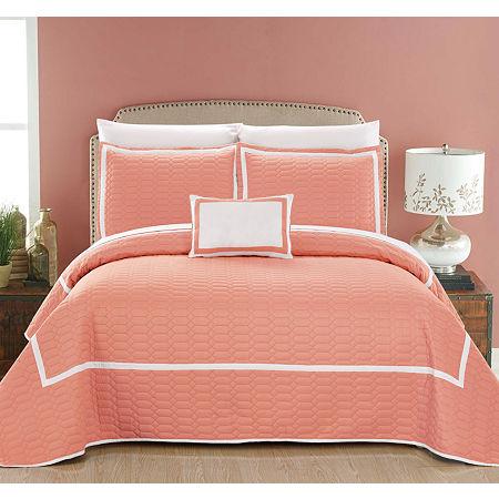 Mesa Quilt Set, One Size , Orange