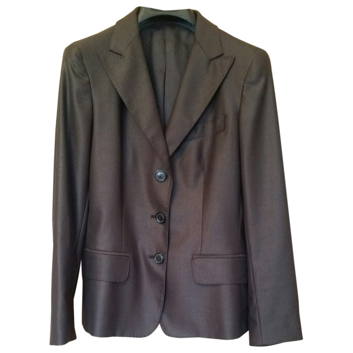 Non Signé / Unsigned \N Brown Wool jacket for Women 40 IT