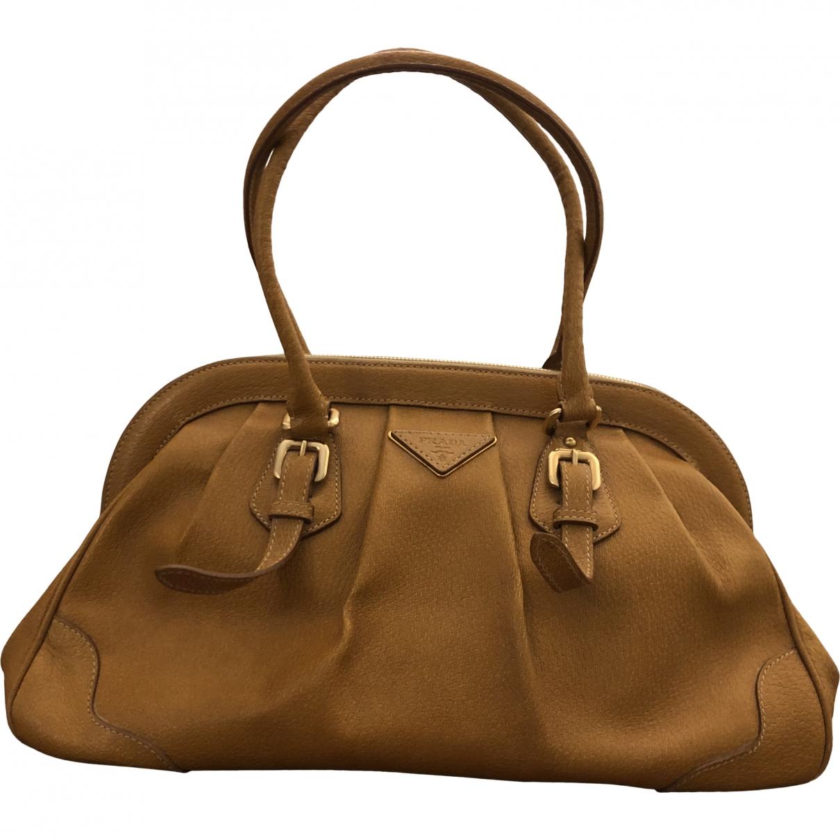 Prada \N Camel Leather handbag for Women \N
