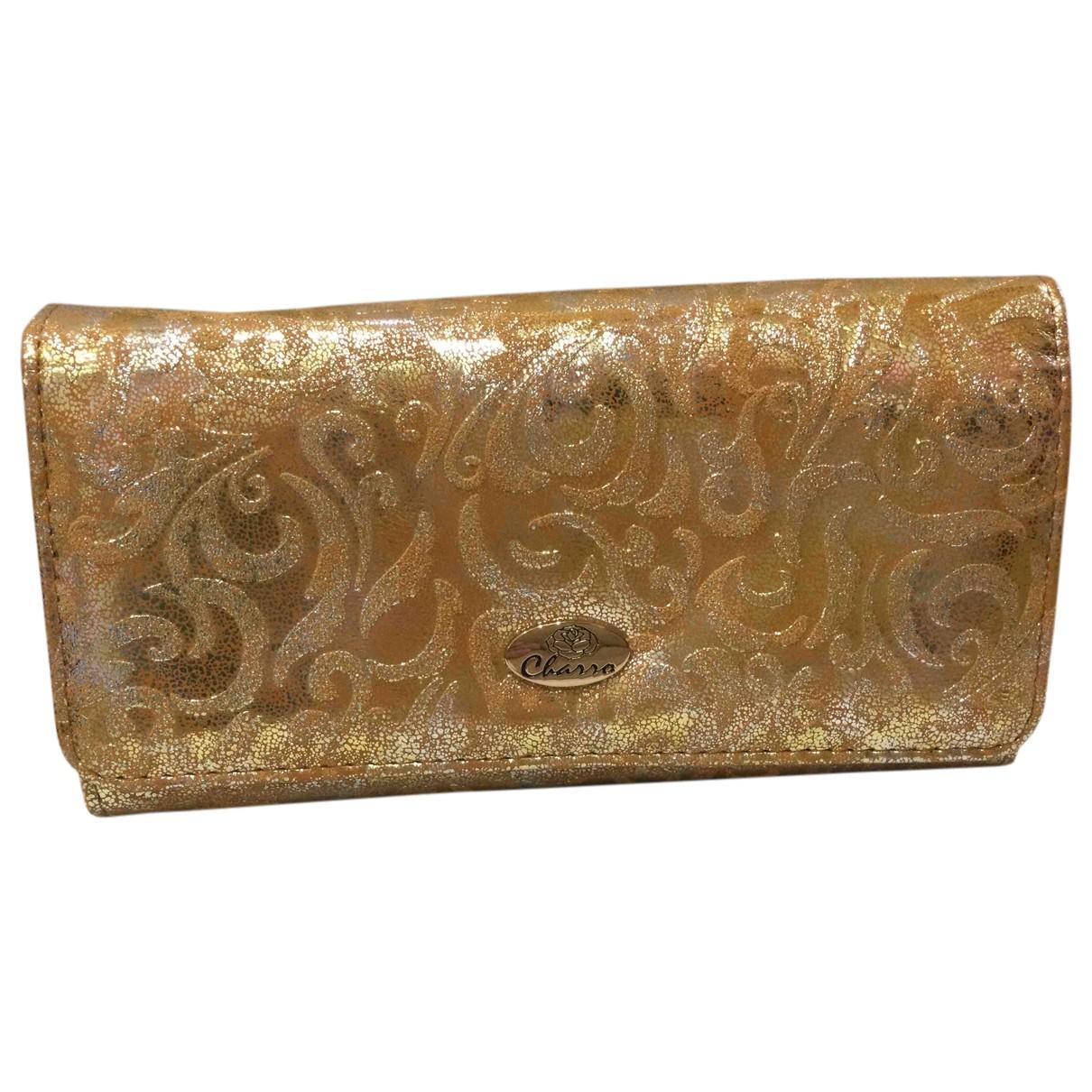 - Portefeuille   pour femme en cuir - metallise