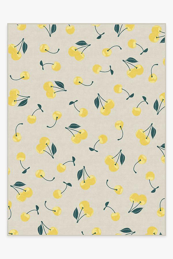 Washable Rug Cover | Cherry Yellow Rug | Stain-Resistant | Ruggable | 9'x12'