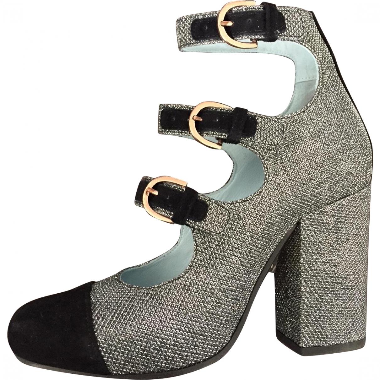 Apologie \N Silver Glitter Heels for Women 38 EU