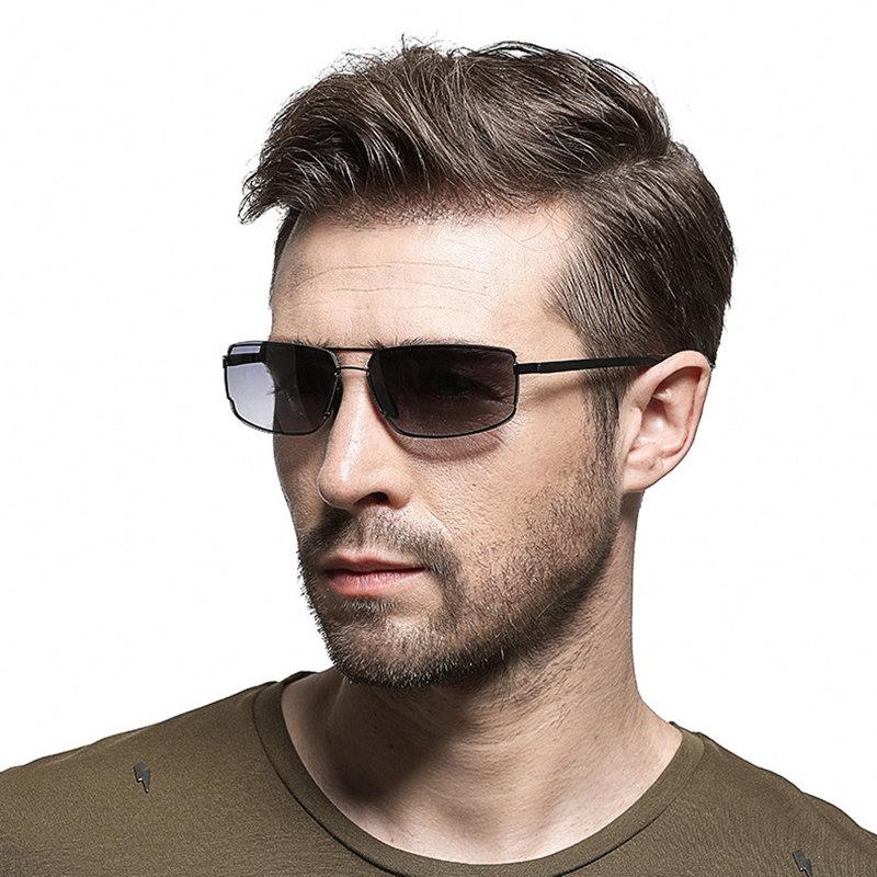 Men HD Polarized Metal Sunglasses HD UV400 Vogue Travel Riding Driving Sunglasses