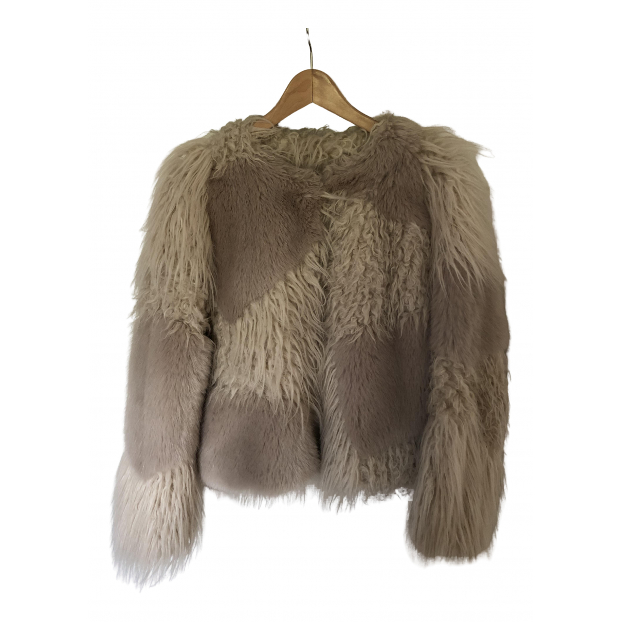 Seventy N Beige Faux fur coat for Women 42 IT