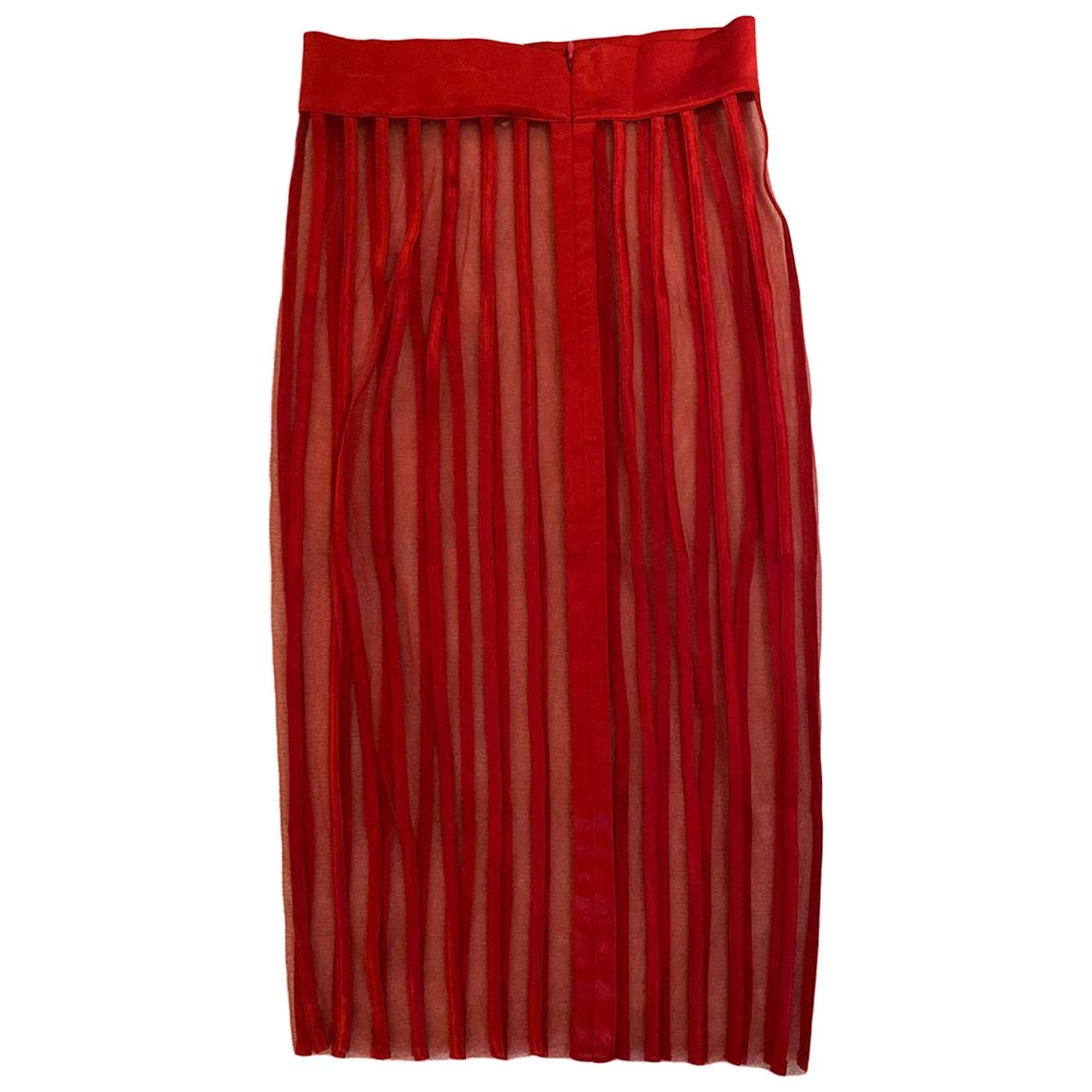 La Perla \N Red Silk skirt for Women 40 IT
