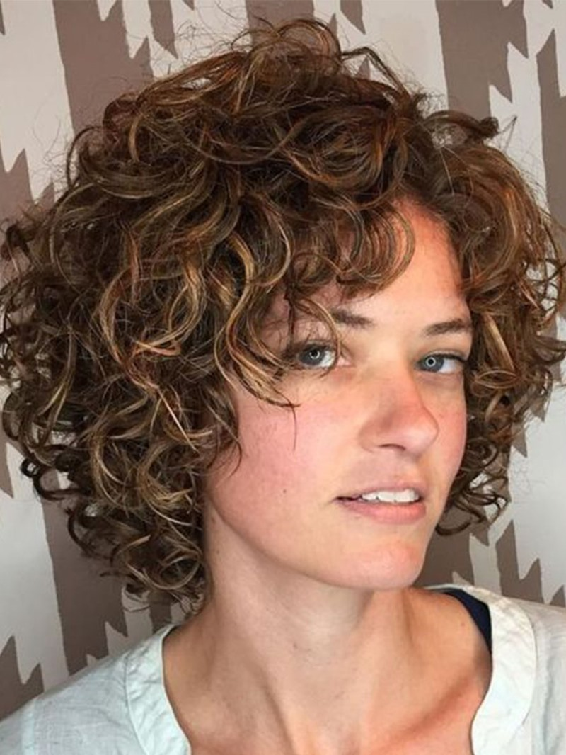 Ericdress Women Short Curly Hairstyles Natural Looking Synthetic Hair Wigs Rose 120% Density Capless Wigs 12Inch