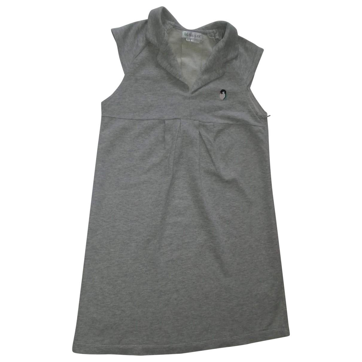 Little Paul & Joe - Robe    pour enfant en coton - gris
