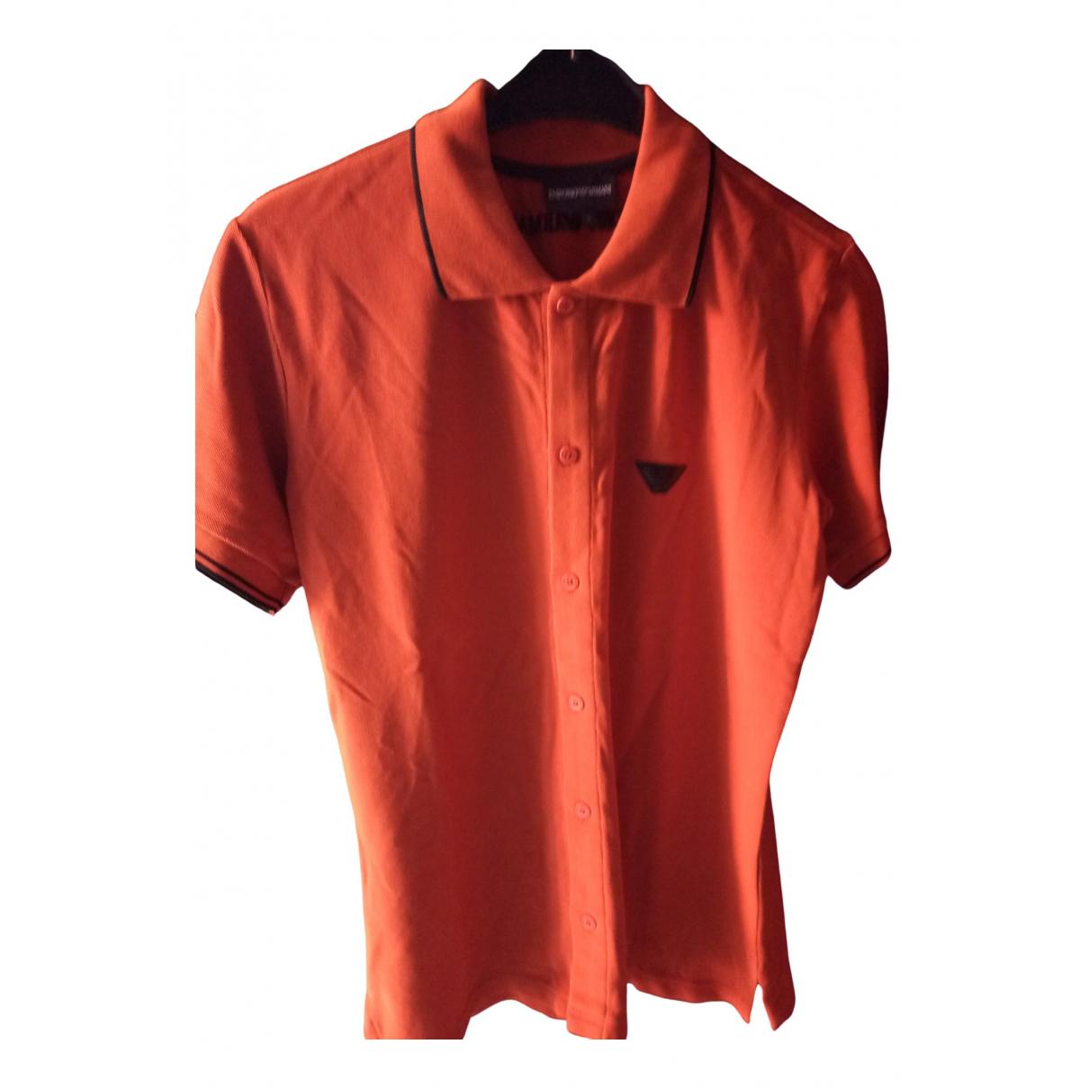 Emporio Armani \N Orange Cotton Polo shirts for Men L International