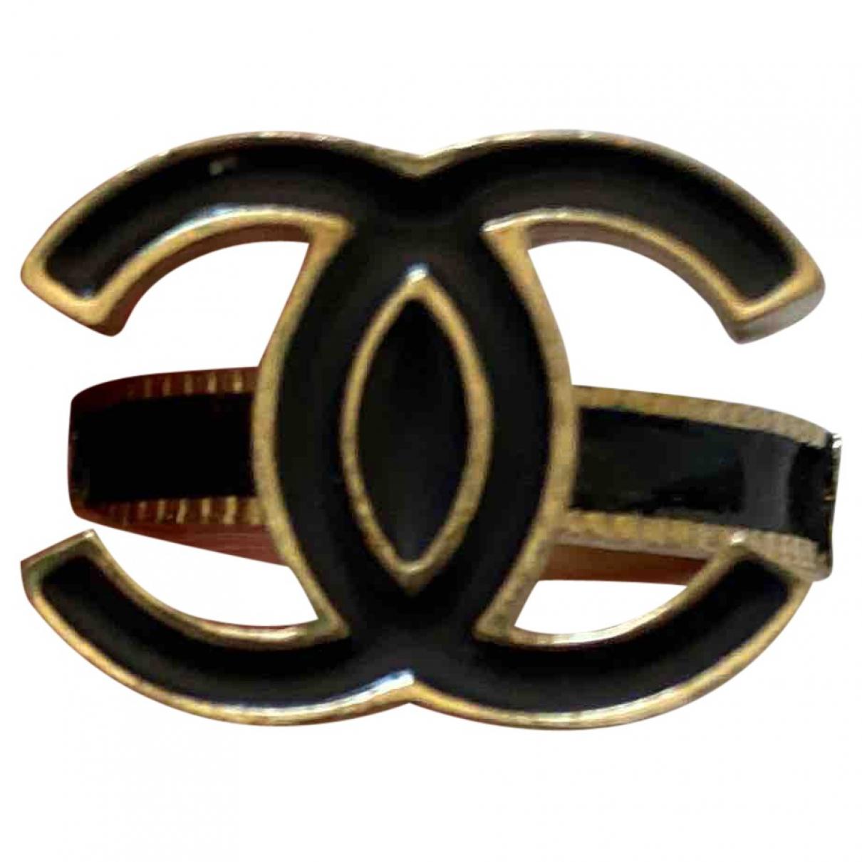 Chanel - Bague CC pour femme en metal - noir