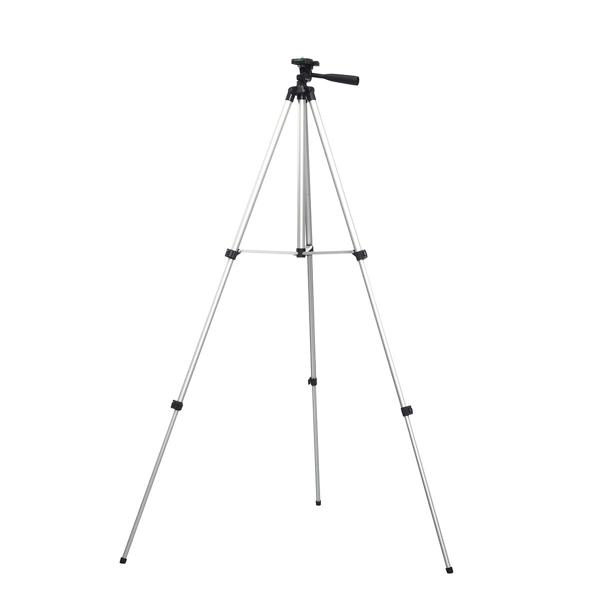 1.5m 3 Sections Aluminum Alloy Tripod Phone Holder With Phone Clip For iPhone Samsung Huawei Xiaomi