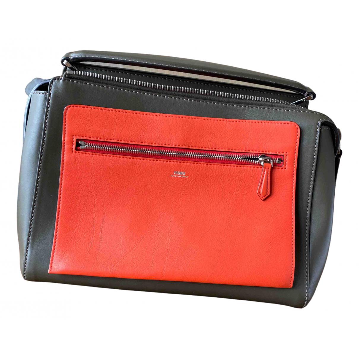 Fendi Dot Com Grey Leather handbag for Women N
