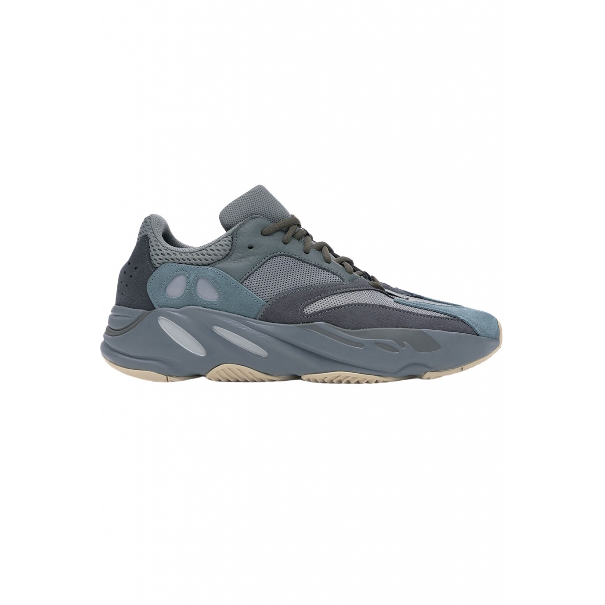 Yeezy X Adidas Boost 700 V1  Sneakers in  Blau Veloursleder