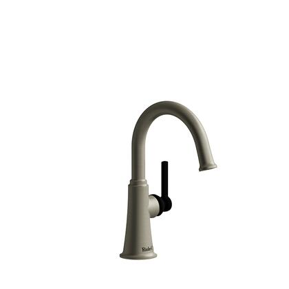 Momenti MMRDS00LBNBK-05 Single Hole Lavatory Faucet with L Lever Handle without Drain 0.5 GPM  in Brushed