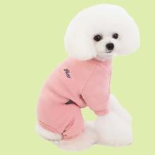 1pc Letter Graphic Dog Pajama Jumpsuit