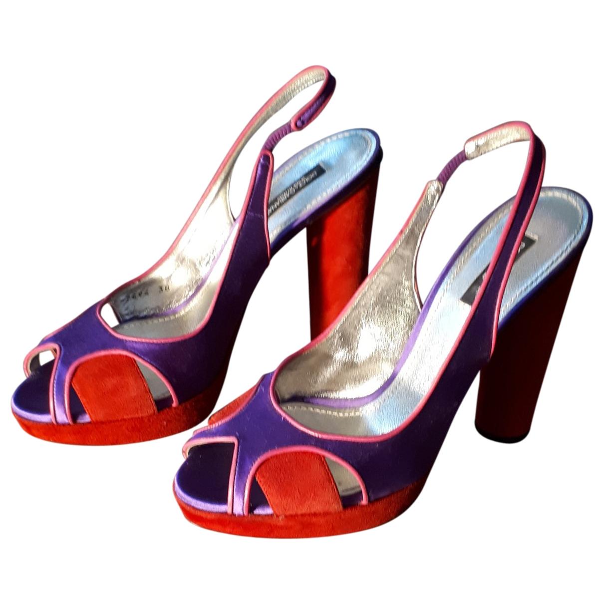 Dolce & Gabbana \N Sandalen in  Lila Leinen